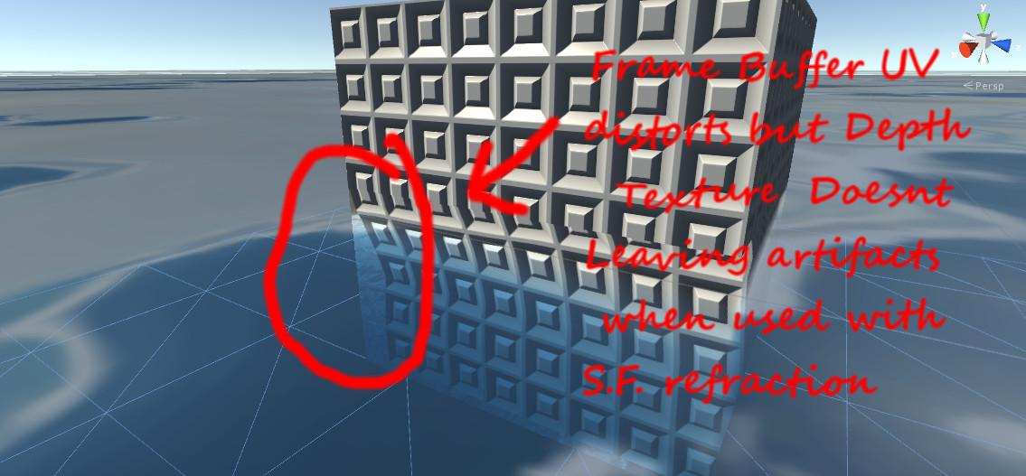 Proper Depth Texture Distortion for High Quality Refraction