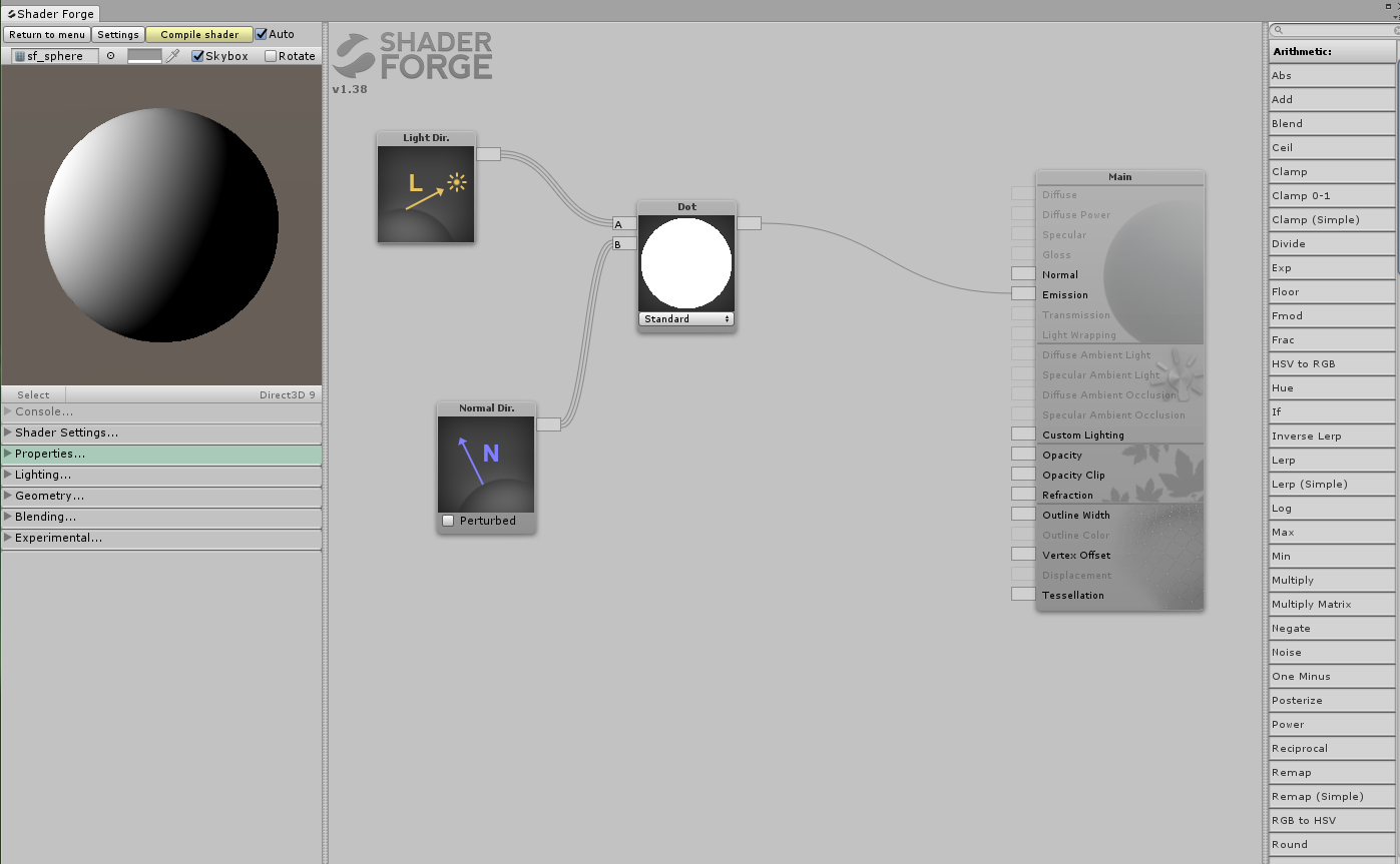 Node previews not displaying in v1 38 Unity 5 6 3p1 / Feedback