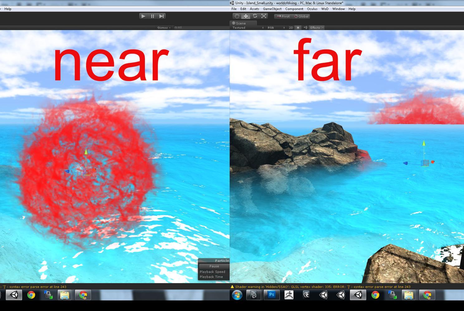 Depth Blend alpha / Feedback / Shader Forge