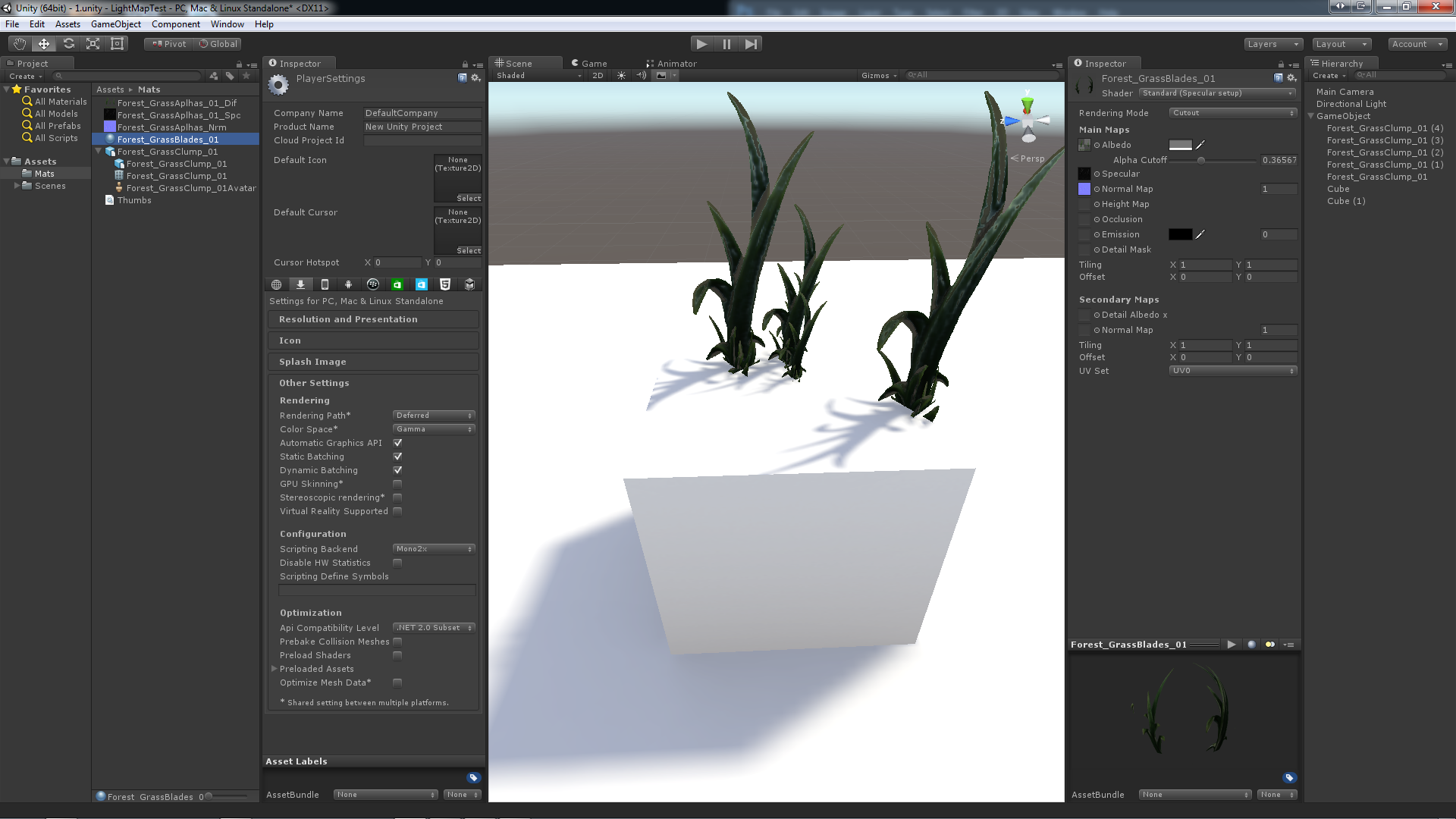 Unity 5: Issues lightmapping with shaders containing Opacity Clip