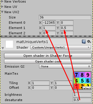 Get a specific UV Coordinate Entry? / Feedback / Shader Forge